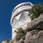 """<a href=""""http://desi.lbl.gov"""">Dark Energy Spectroscopic Instrument</a> (DESI) researchers are <a href=""""https://www.noao.edu/meetings/desi2018/agenda.php"""">gathered in Arizona</a> to discuss the status of the project, which will capture light from millions of galaxies and take precise measurements of the universe's expansion rate. Berkeley Lab is a DESI collaborator. Research will be conducted at the Mayall 4-meter telescope at Kitt Peak Observatory in Tucson, AZ (pictured)."""